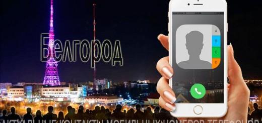База мобильных телефонов города Белгорода