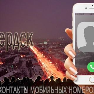База мобильных телефонов города Бердска