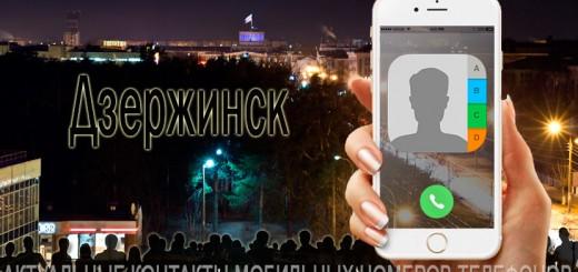 База мобильных телефонов города Дзержинска