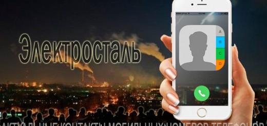 База мобильных телефонов города Электросталь