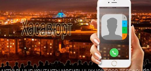 База мобильных телефонов города Хасавюрта