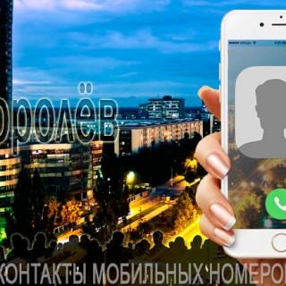 База мобильных телефонов города Королева