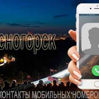 База мобильных телефонов города Красногорска