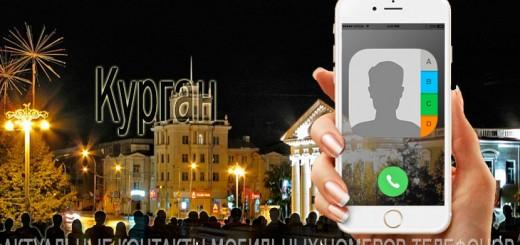 База мобильных телефонов города Кургана