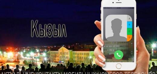 База мобильных телефонов города Кызыла