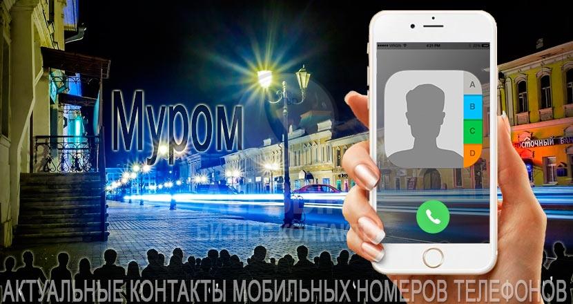 База мобильных телефонов города Мурома