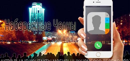 База мобильных телефонов города Набережных Челнов