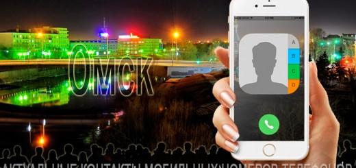 База мобильных телефонов города Омска