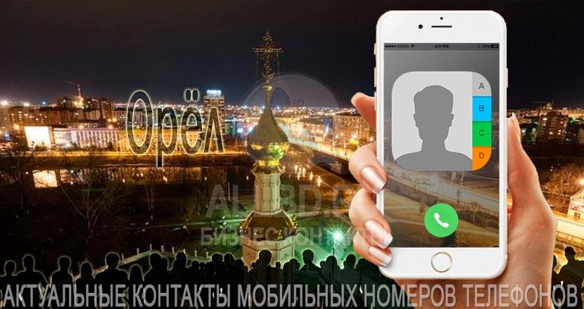 База мобильных телефонов города Орла