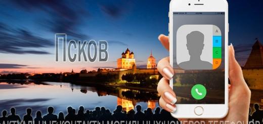 База мобильных телефонов города Пскова