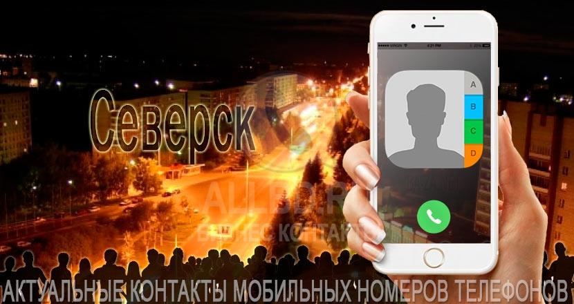 База мобильных телефонов города Северска