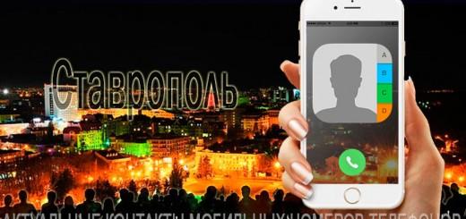База мобильных телефонов города Ставрополя