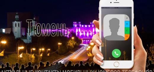 База мобильных телефонов города Тюмени