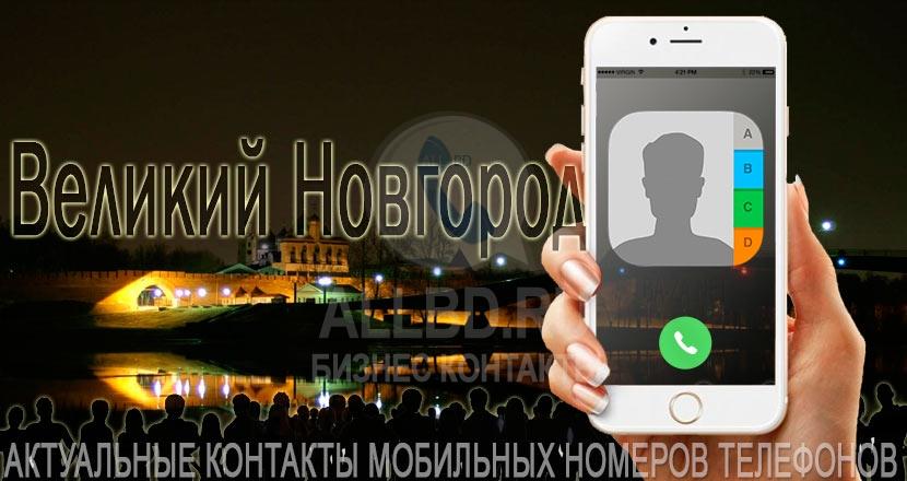 База мобильных телефонов города Великого Новгорода