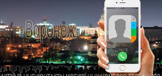 База мобильных телефонов города Воронежа
