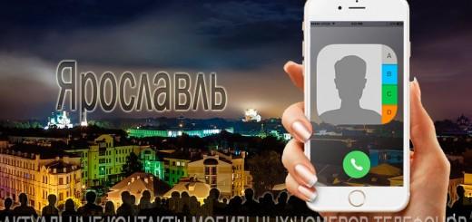 База мобильных телефонов города Ярославля